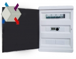 Щиты управления вентиляцией с пластинчатым рекуператором и водяным нагревателем